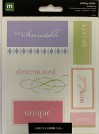All About me Calling Cards - Making Memories