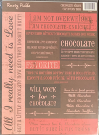 Cardstock Tags Chocolate Kisses - Rusty Pickle
