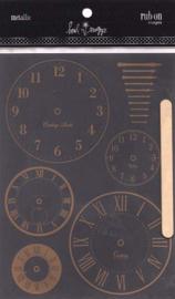 Rub-on Images Metallic Clocks - Heidi Swapp