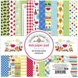 Bar-B-Cute Paper Pad 6x6 - Doodlebug