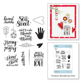 Sew Tiny Sentiments Cling Stamp Set - Spellbinders
