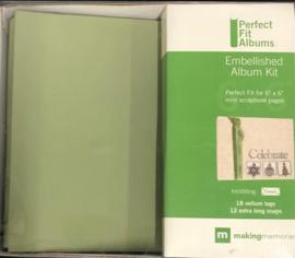 "6"" x 6"" Perfect Fit Mini Album Celery - Making Memories"