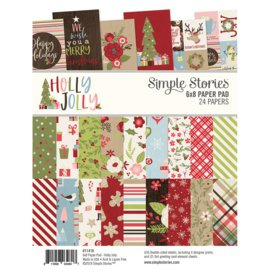 Holly Jolly Paper Pad 6x8 - Simple Stories