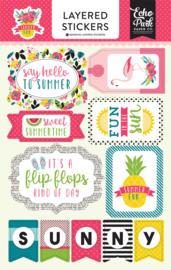 Summer Fun Layered Stickers Echo Park