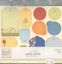 We Are Family Printed Add-Ons Punchboard Heidi Grace