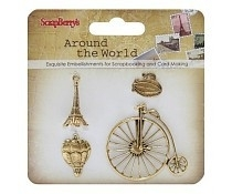 Around the world Metal Charms ScrapBerry's