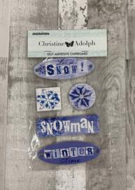 Christine Adolph Chipboard Winter - Creative Imaginations