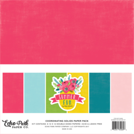 Summer Fun Coordinating solids paper pack Echo Park
