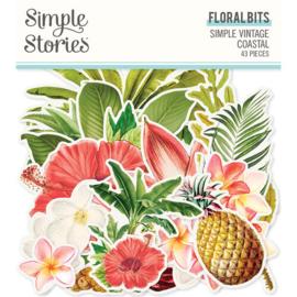Simple Vintage Coastal Floral Bits - Simple Stories