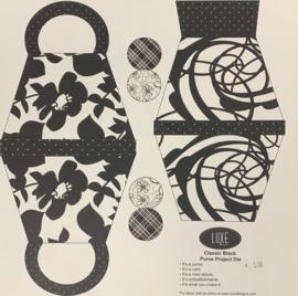 Classic Black Purse Project Die - Luxe Design