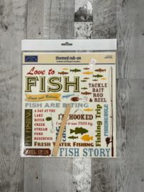 Love to Fish Rub-Ons - Karen Foster