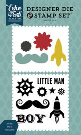 Designer Die and Stamp Set All Boy - Echo Park