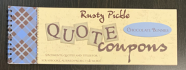 Quote Coupons Chocolate Bunnies - Rusty Pickle