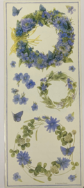 Blue Wreaths by Marjolein Bastin - Colorbok