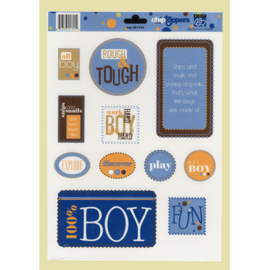 Boy Chip Toppers - Bazzill Basics Paper