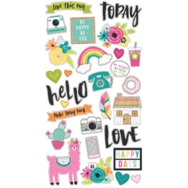 Chipboard Stickers - Oh Happy Day Collection