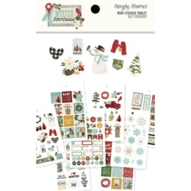 Winter Farmhouse Mini Sticker Tablet - Simple Stories