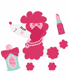 Vinyl Stickers Poodle Perfectly Posh collection