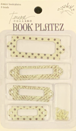 Book Plates Shabby Chic White by Teresa Collins - Junkitz