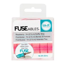 Fuseables Raspberry Ruffle Strip - We R Memory Keepers