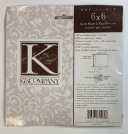 Page Protectors Postbound 6x6 - K & Company