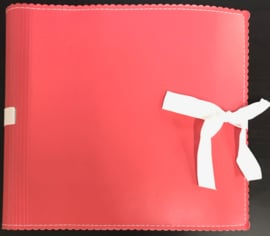 "9"" x 9"" Mini Album Faux Leather Coral"