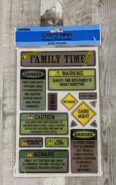 Scrapperware Epoxy Stickers Family Time - Creative Imaginations