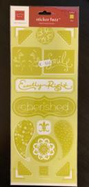 Sticker Fuzz Velvet Sticker Olive - Chatterbox