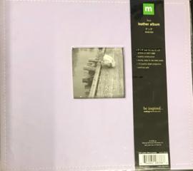 """9"""" x 9"""" Faux Leather Album Lavender"""
