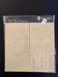 Chipboard Alphabet Cream - Scenic Route