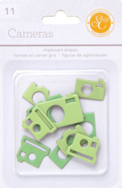 Cameras chipboard Green Studio Calico