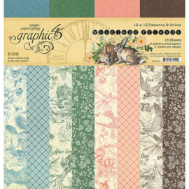 Woodland Friends Patterns & Solids 12x12 - Graphic 45