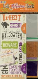 Foil Glitter Flock Halloween Kit - We R Memory Keepers