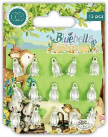 Bluebells and Buttercups Silver Charms - Craft Consortium