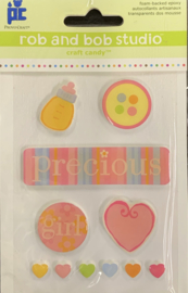 Rob and Bob Studio Precious Girl Stickers - Provo Craft