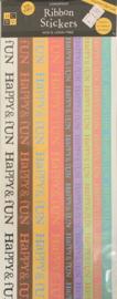 Ribbon Stickers Happy & Fun - DCWV