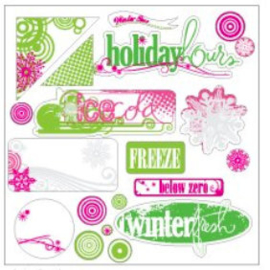 Clear Extras 12x12 Winterfresh collection - Heidi Swapp