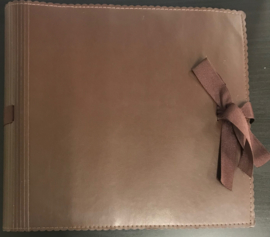 "9"" x 9"" Mini Album Faux Leather Brown"