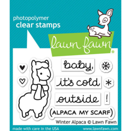 Winter Alpaca Stamps - Lawn Fawn