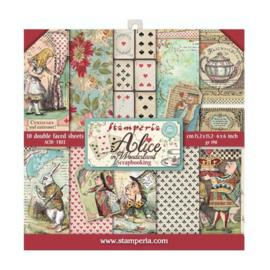 Alice in Wonderland 6x6 Paper Pack -Stamperia