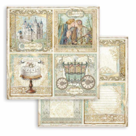 Sleeping Beauty 4 Cards - Stamperia