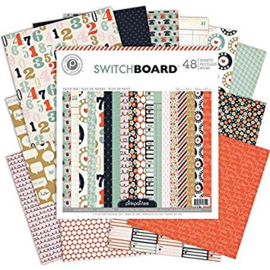 Switchboard 12x12 Paper Pad 48 sheets Pink Paislee