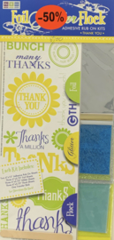 Foil Glitter Flock Thank You Kit - We R Memory Keepers