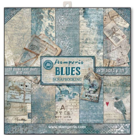 Blues 12x12 10 double sided sheets Stamperia