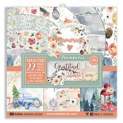 Gratitude 12x12 paper pack - Stamperia
