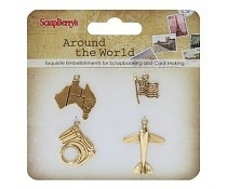 Around the world Metal Charms II ScrapBerry's