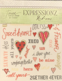 Expressionz Rub-ons Love Line by Teresa Collins - Junkitz