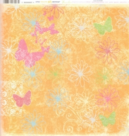Orange Blossoms with Glitter Delightful Collection - Little Yellow Bicycle