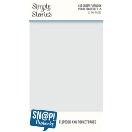 4x6 Sn@p! Flipbook Pocket Page Refills 10 4x6 pages - Simple Stories