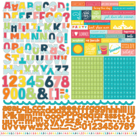 Summer Party Alpha Sticker Echo Park